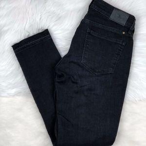 Lucky Brand Lolita Capri Black Jeans Raw Hem 00